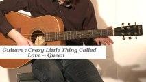 Cours guitare : jouer Crazy little thing called love de Queen à la guitare - HD