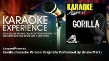 Leopard Powered - Gorilla - Karaoke Version Originally Performed By Bruno Mars - KaraokeExperience