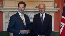 US Vice President Biden meets UK Deputy PM Clegg