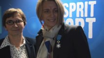 Remise de la médaille de l'ordre du mérite à Sandrine Soubeyrand