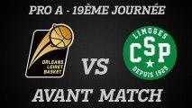 Avant-Match - J19 - Réception de Limoges