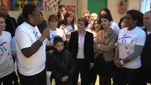 Visite officielle des ministres des sports et des droits des femmes à Choisy le Roi (06/02/13)