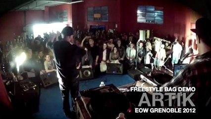 Freestyle bag ft.ARCANES, KRM, KESPAR & ARTIK (en démo) @ EOW Grenoble 2012