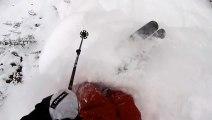 Ski Freeride - Impressive Spine Ride in AVALANCHE - Tanner Hall & GoPro 2013