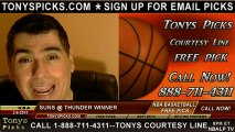 Oklahoma City Thunder versus Phoenix Suns Pick Prediction NBA Pro Basketball Odds Preview 2-8-2013