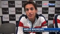 "Fed Cup / Mauresmo: ""On est dos au mur"" - 09/02"