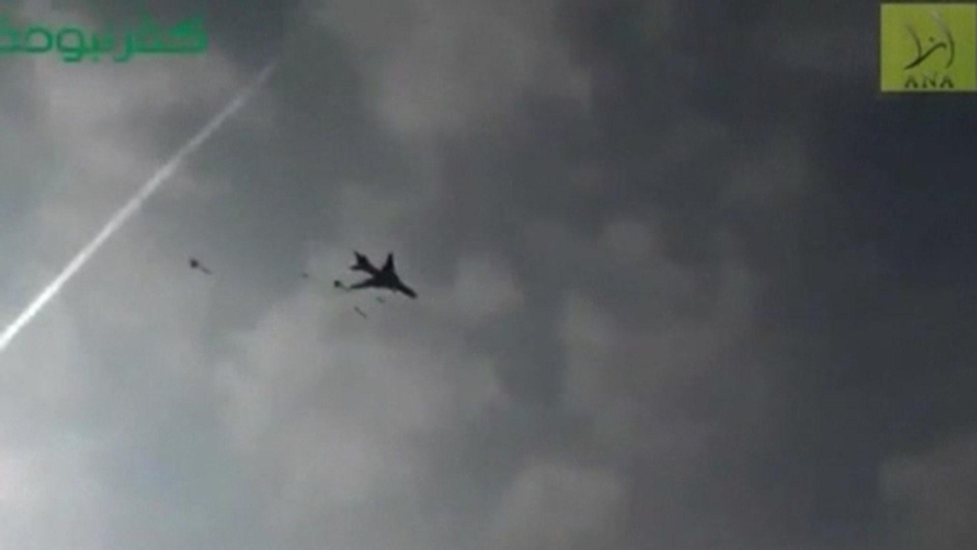 Syria air strike caught on camera