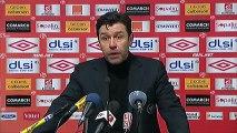 Conférence de presse AS Nancy-Lorraine - Stade de Reims : Patrick GABRIEL (ASNL) - Hubert FOURNIER (SdR) - saison 2012/2013