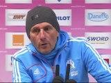 Conférence de presse Evian TG FC - Olympique de Marseille : Pascal DUPRAZ (ETG) - Elie BAUP (OM) - saison 2012/2013