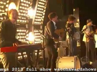 Mumford and Sons I Will Wait Grammys 2013 performance