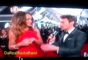 Rihanna in Red on the Red Carpet on Grammys 2013