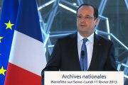 Discours à l'occasion de l'inauguration du nouveau site des Archives nationales