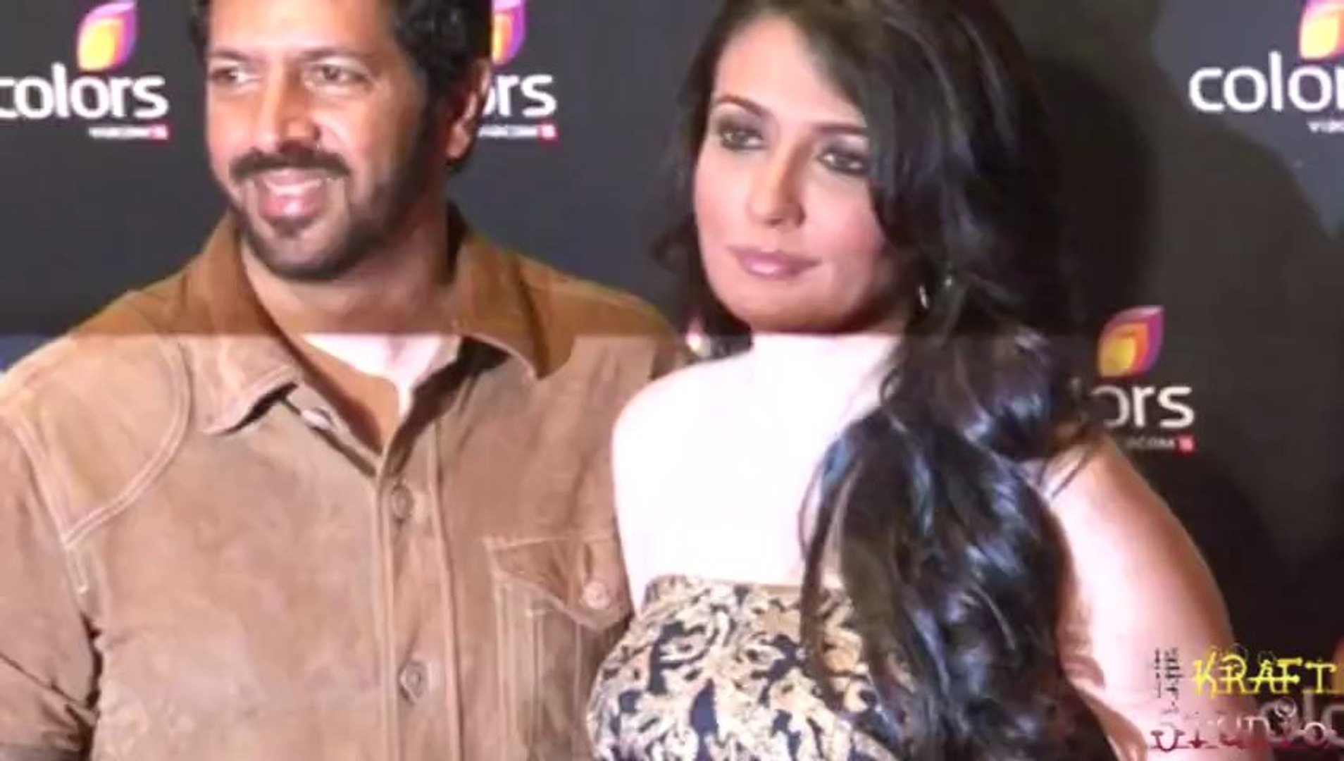 Kabir Khan with wife Mini Mathur At Red Carpet Of 4 Years Celebration Colors Party