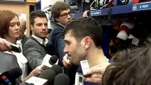 Canadiens captain Brian Gionta after the Canadiens season-opener January 19, 2013