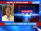 Kolkata: Violence at college campus.