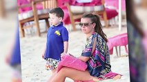 Coleen Rooney Bonds With Her Son on the Beach in Barbados