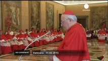 Pope Benedict XVI resigns - no comment