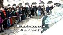 Marmande inauguration de la cloche chinoise square de Verdun