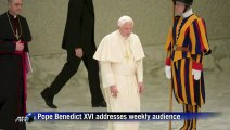 Pope Benedict XVI addresses weekly general audience
