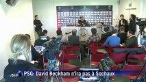 PSG: Beckham ne sera pas du déplacement à Sochaux