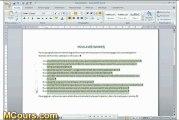 Tutoriel WORD 2007: Cours N°23 Créer liste a puces ou numéros dans Word 2007