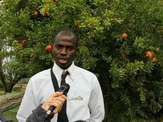 Oumar Dienta, agriculteur au Mali à la première conf.int. sur les systèmes de production rizicole biologique - Montpellier