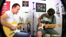 Tele & Strat Guitar Jam Improv ♫ Funky Jazz Blues ♫ Smooth Backing Track