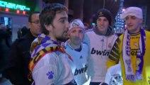 Los aficionados del Real Madrid y el Manchester United, ven a sus equipos en cuartos