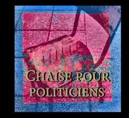 """Chaise pour politiciens, Stuhl für Politiker, """"Installation"""" Europa von Manfred La-Fontaine"""