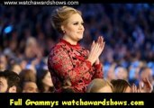 $Adele accepts the Best Pop Solo Performance GRAMMY at the 55th GRAMMY Awards 2013