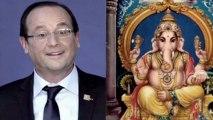 Hollande en Inde : un éléphant lui ressemble énormément