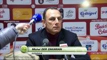 Conférence de presse EA Guingamp - FC Nantes : Jocelyn GOURVENNEC (EAG) - Michel DER ZAKARIAN (FCN) - saison 2012/2013