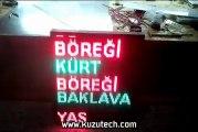 kuzutech - kayan yazı, grafik tabela, led ekran, p10, panel tabela, led tabela