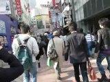 Les Corotzilla, piétons sur le crossing de Shibuya