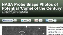 NASA Captures First Images of 'Comet of the Century'