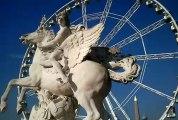 La Place de la Concorde, vue du Jardin des Tuileries et le Jardin des Tuileries (Paris)