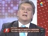 Luis Ventura, sin filtro contra Diego Maradona .