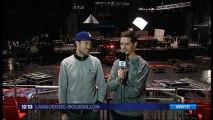 interview C2C sur France 3 Languedoc-Roussillon en direct du Zénith de Montpellier