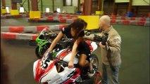 Shooting The First French GoPro Girls GoPro Shop Lyon Rhone Alpes France à Speed Karting