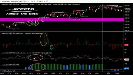 A great 8 point move on the Emini caught by Sceeto and Follow The Bots on the 19th Feb 2013013