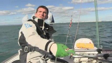 Xavier Macaire, skipper Hérault, à l'entraînement