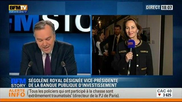 """BPI - S.Royal """" La réussite économique n'est ni de droite ni de gauche"""" itw bfmtv - 21/02/2013"""
