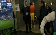 Bojan Krkic y Gerard Piqué tras el partido en San Siro (Milan-FCB)