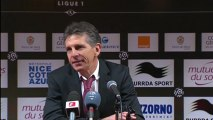 Conférence de presse OGC Nice - Stade de Reims : Claude  PUEL (OGCN) - Hubert FOURNIER (SdR) - saison 2012/2013