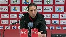Conférence de presse Valenciennes FC - Toulouse FC : Daniel  SANCHEZ (VAFC) - Alain  CASANOVA (TFC) - saison 2012/2013