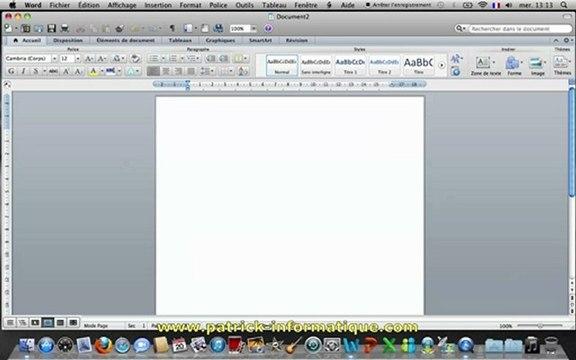 Tuto Mac - Word 2011 - Créer et personnaliser un tableau - Extrait