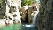 Balade aquatique du ruisseau de Sainte-Lucie (Haut-Cavu - Corse) le 20/07/2012