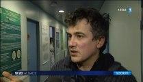 Patrick pelloux en Soutien aux urgences du CHU strasbourg (14/2/13)