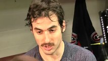 Habs' Frédéric St-Denis after his first NHL game