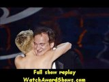 #Quentin Tarantino accepts the Best Writing from actress Charlize Theron and actor Dustin Hoffman Oscars 2013